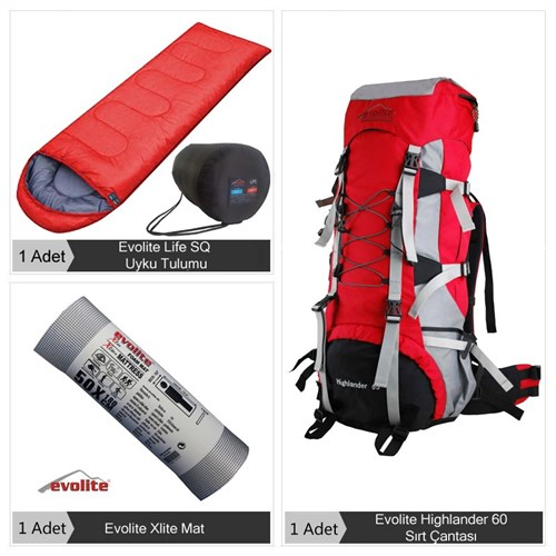 Evolite Hiking Tek Kişilik Eko Set