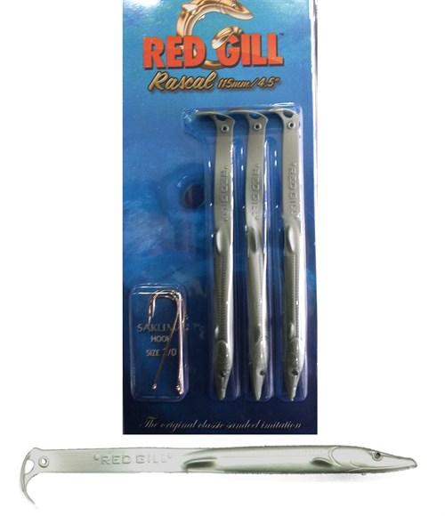 Red Gill Rascal 115 mm Metallic Green Silikon Balık